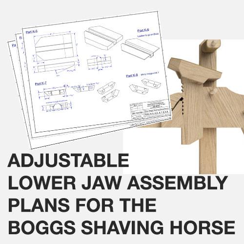 Shaving Horse Adjustable Lower Jaw Plans